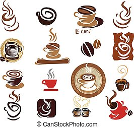 Coffee and Tea design elements.
