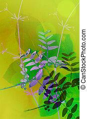 Natural artistic, floral background