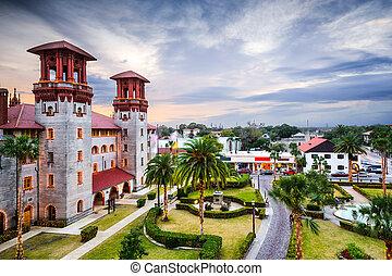St. Augustine, Florida Courtyard - St. Augustine, Florida,...