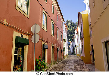 Old street of Tomar, Portugal