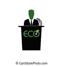 eco orator color vector illustration