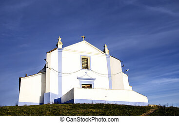 iglesia, de, Salvador, en, Arraiolos, aldea, portugal,