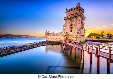 Belem Tower in Portugal - Lisbon, Portugal at Belem Tower on...