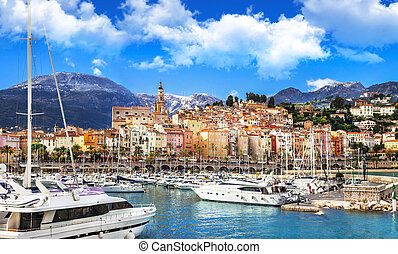 Menton, France -  beautiful town in south of France