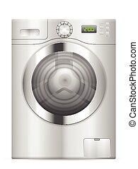washing machine - Washing machine on a white background