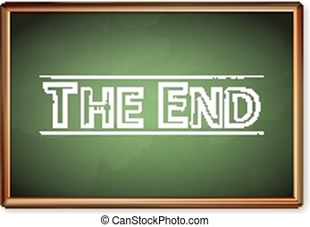 blackboard the end - Blackboard the end on a white...