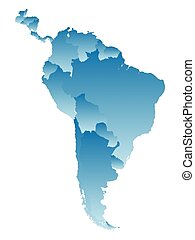 map South America on a white background.