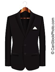 man suit on hanger