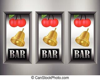 slot machine - Winner triple in slot machine.