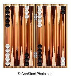 backgammon - Backgammon on a white background Vector...