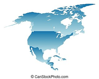 map North America on a white background