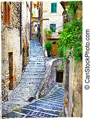 beautiful Casperia, artistic vintag - beautiful old streets...