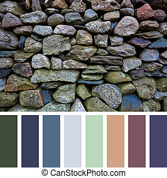 Old stone wall palette