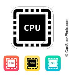 CPU with name icon Vector illustration Vector illustration...