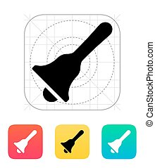 Hand bell icon Vector illustration