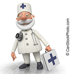 The doctor with a portfolio goes to the patient - Work of an...