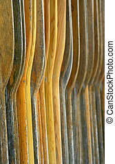 Many Boat Oars - Many colorful wooden oars good for...