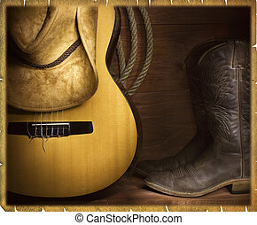 Cowboy country music background - Country music background...