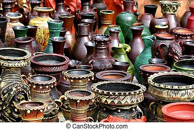 artesanías, de, India