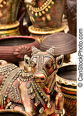 Nandi, Sacred Indian Statue - Sacred Indian statue called...