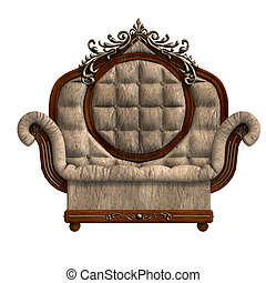 armchair of louis xv. - 3D rendering of the armchair of...