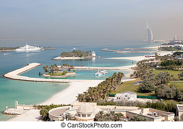 Arabian Gulf coast in Dubai, United Arab Emirates