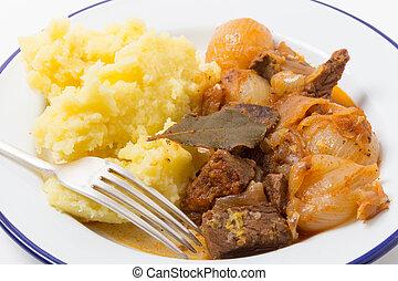 Beef stifado stew meal