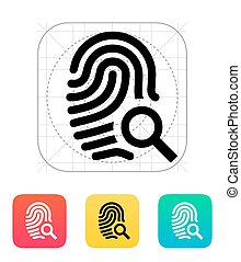 Fingerprint and thumbprint icon Vector illustration