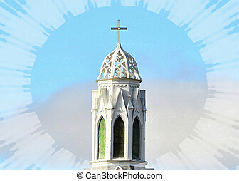 Pristine Steeple in White