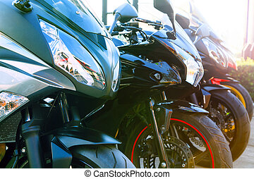 close up front view full fairing of big bike motor cycle...