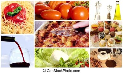 italian food montage - a collage including intalian cuisine...
