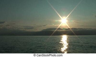 Sunrise on Baikal lake