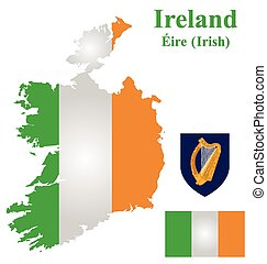 Irish Flag - Flag and coat of arms of the Republic of...