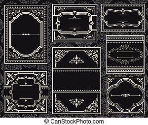 Ornate Vintage Frames - Set of Ornate vector frames Each...