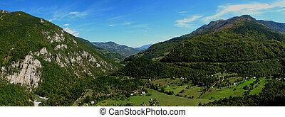 Panoramic image of Montenegro - Panoramic image of Dinaric...