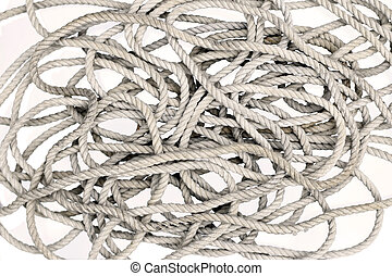 Tangled Rope - Detail of the rope - tangled rope