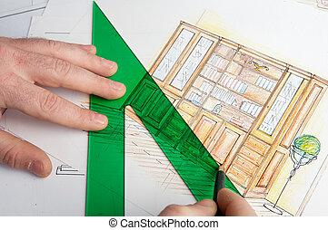 Plans - a photo of blue prints home Plans