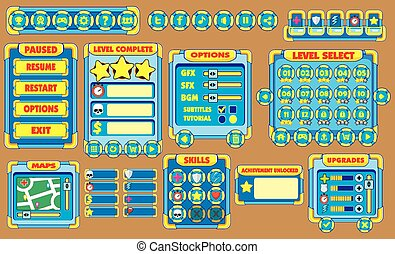 game gui 12 - Complete set of graphical user interface (GUI)...