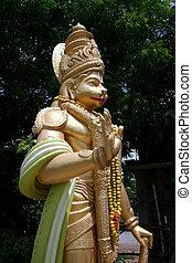 Hanuman - Hindu god Hanuman statue at a temple in India