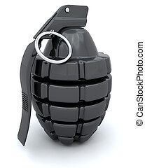 Hand Grenade - 3D render of a traditional hand grenade