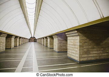 Subway station in a big city