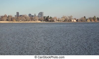 Sloan's Lake Pan Downtown Denver - A pan of downtown Denver...
