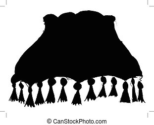 lampshade - black silhouette of lampshade