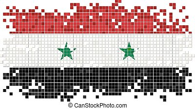 Syrian grunge tile flag Vector illustration Eps 8
