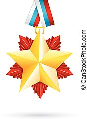 Award star for 23 February - Vector illustration of Award...
