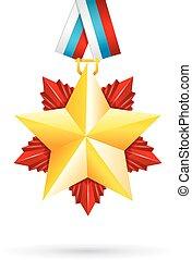 Award star for 23 February - Vector illustration of Award...