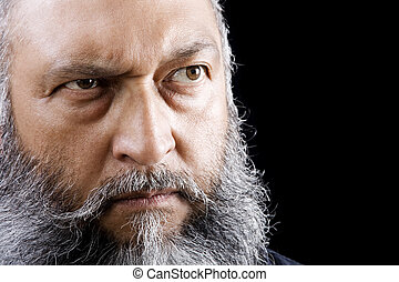 Menacing Man - Stock image of menacing man with long beard...