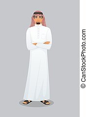 Arabic man character image - Vector illustration of Arabic...