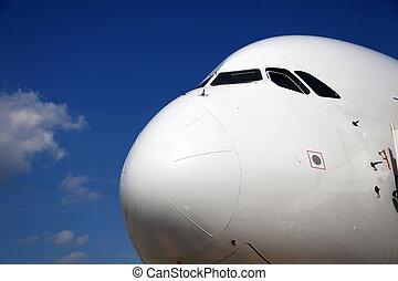 Airplane Front of Airplane - Nose of Airplane frontal side...