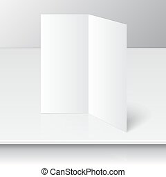 Lying blank two fold paper - standing blank two fold paper...